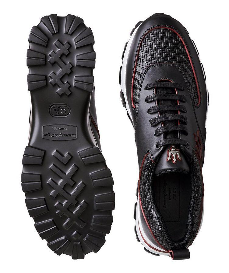 Cesare Maserati Pelle Tessuta Sneakers image 2