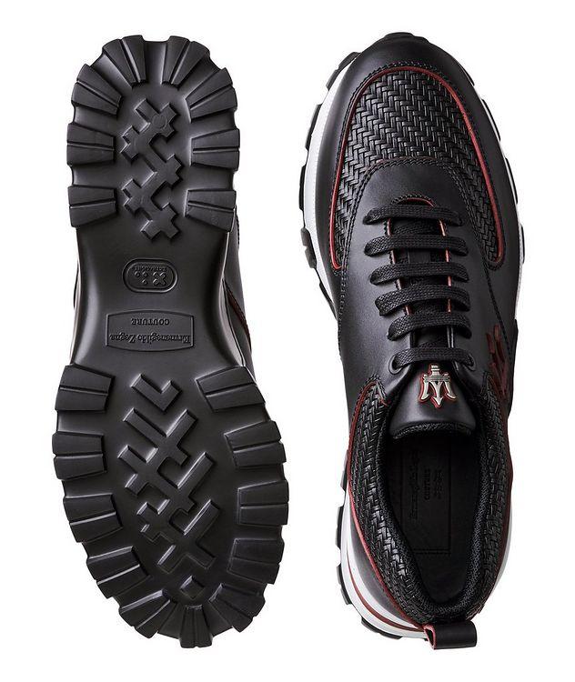 Cesare Maserati Pelle Tessuta Sneakers picture 3