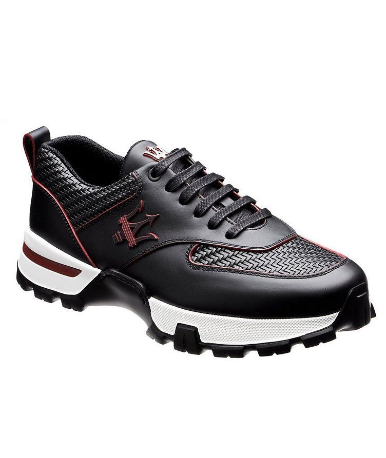 Cesare Maserati Pelle Tessuta Sneakers image 0