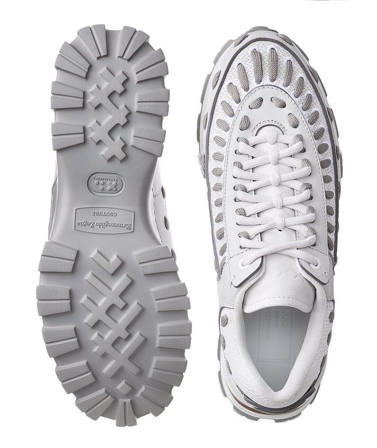 Chaussure sport Claudio en cuir et filet image 2