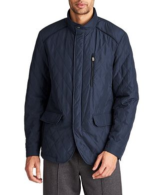 Canali Water-Repellent Quilted Coat