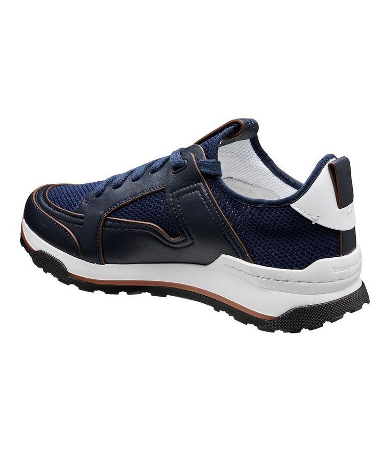 Chaussure sport Siracusa en cuir et filet image 1