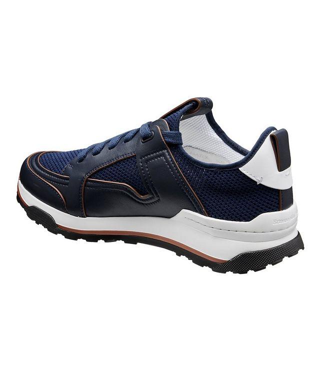 Chaussure sport Siracusa en cuir et filet picture 2