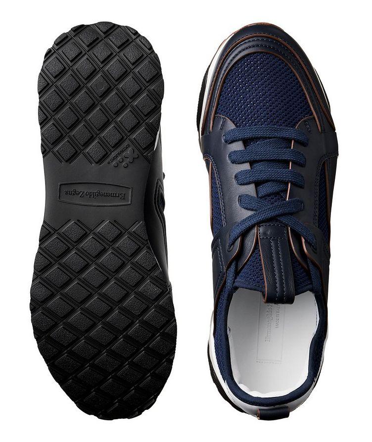 Chaussure sport Siracusa en cuir et filet image 2
