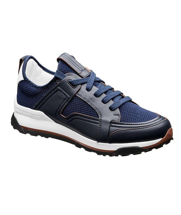 Chaussure sport Siracusa en cuir et filet image 0