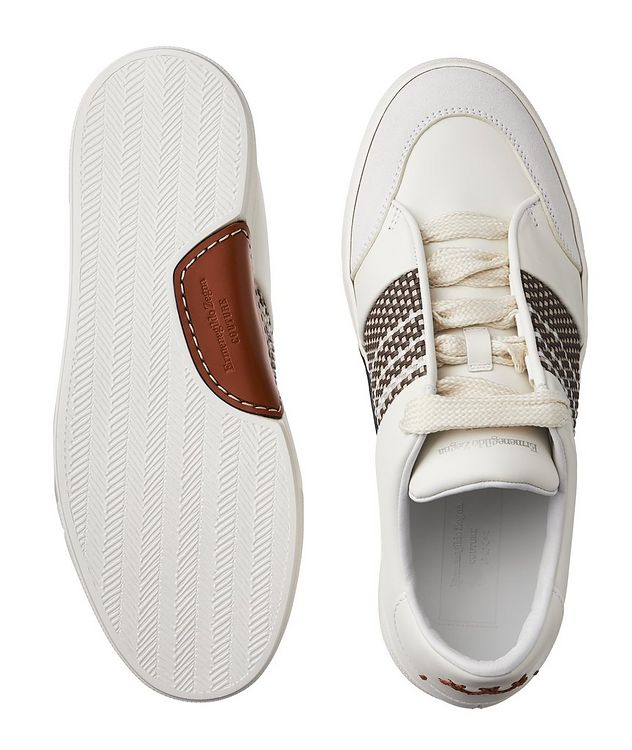 Woven Leather Sneakers picture 3