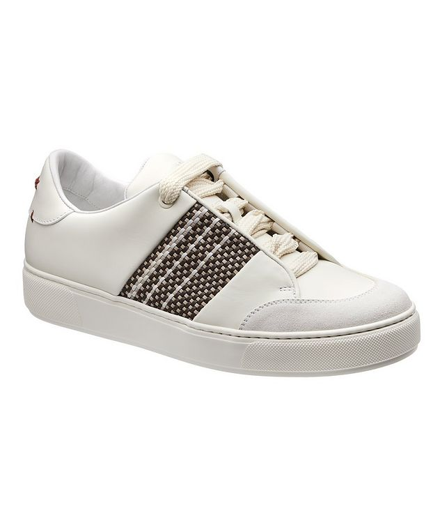 Woven Leather Sneakers picture 1