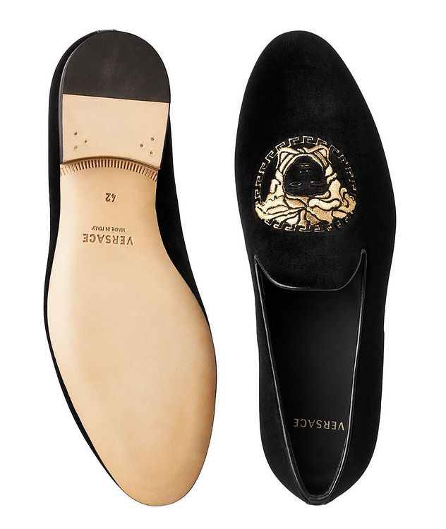 Embroidered Velvet Loafers picture 3