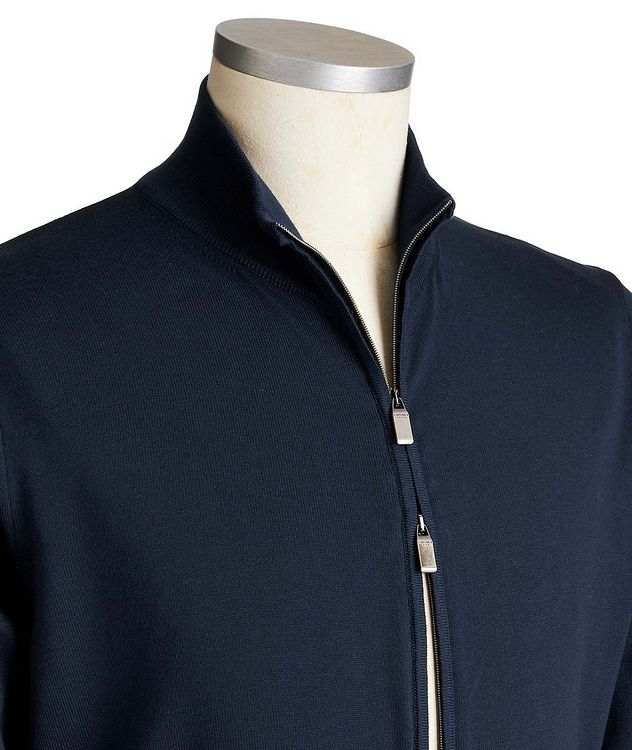 Zip-Up Cotton Sweater picture 2
