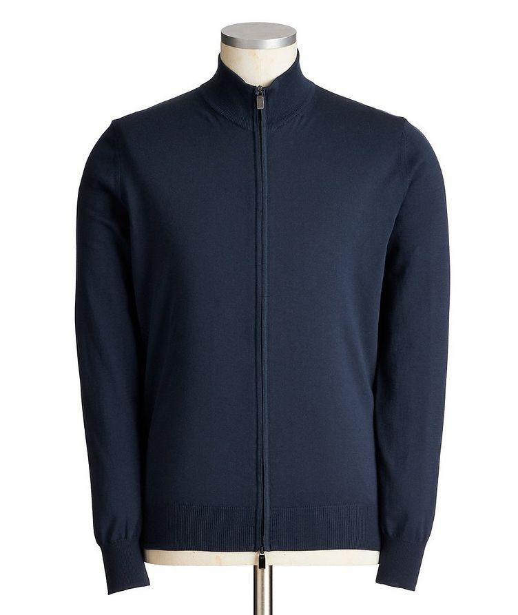 Zip-Up Cotton Sweater image 0