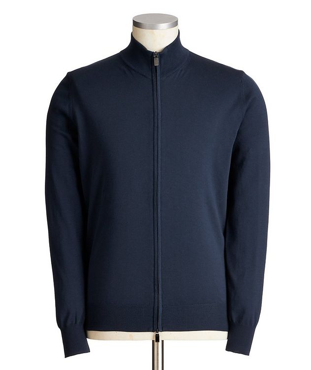 Zip-Up Cotton Sweater picture 1