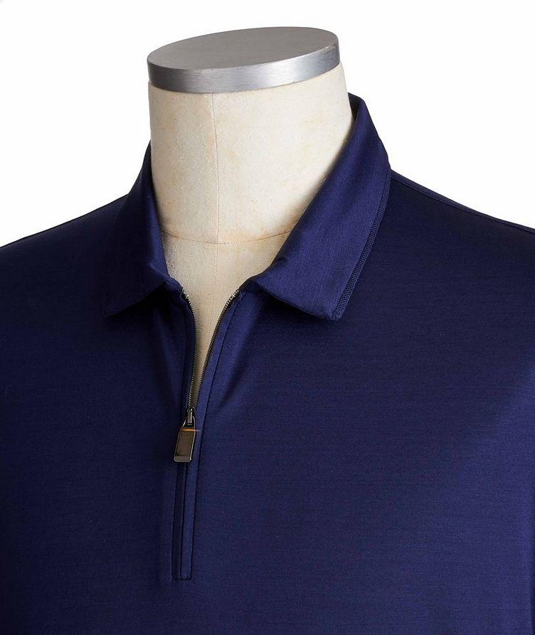 Polo en coton à demi-glissière image 1