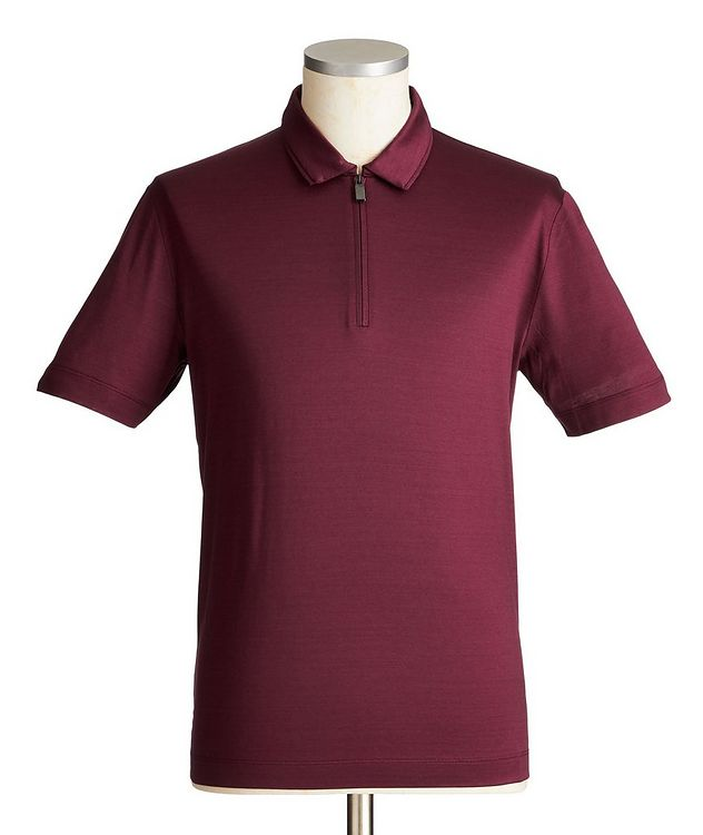 Half-Zip Cotton Polo picture 1