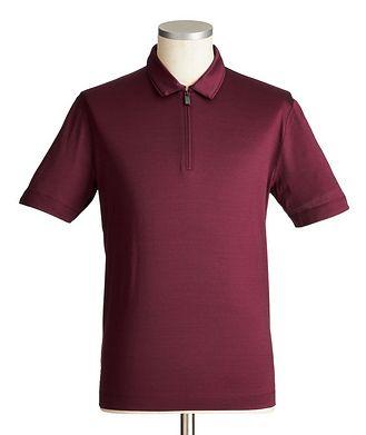 Canali Half-Zip Cotton Polo