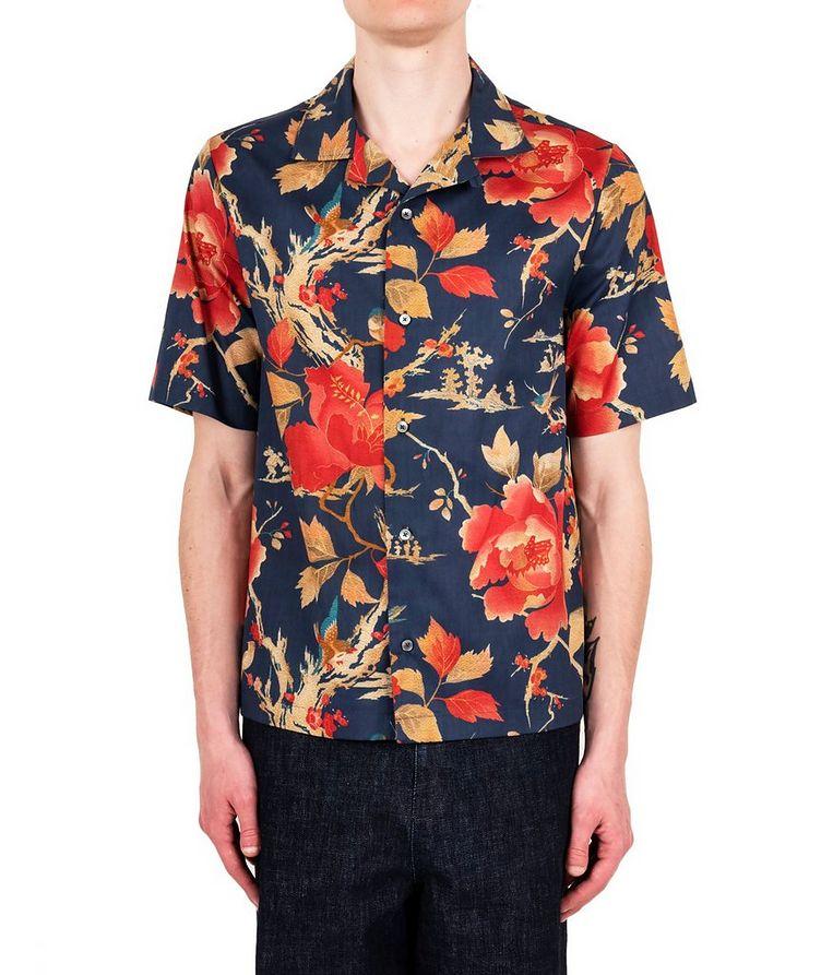 Chemise à motif floral et à manches courtes image 0