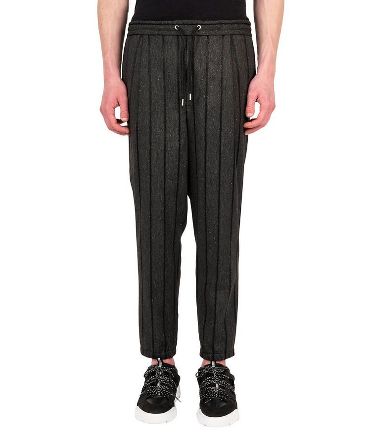 Pantalon à rayures et à taille à cordon image 0