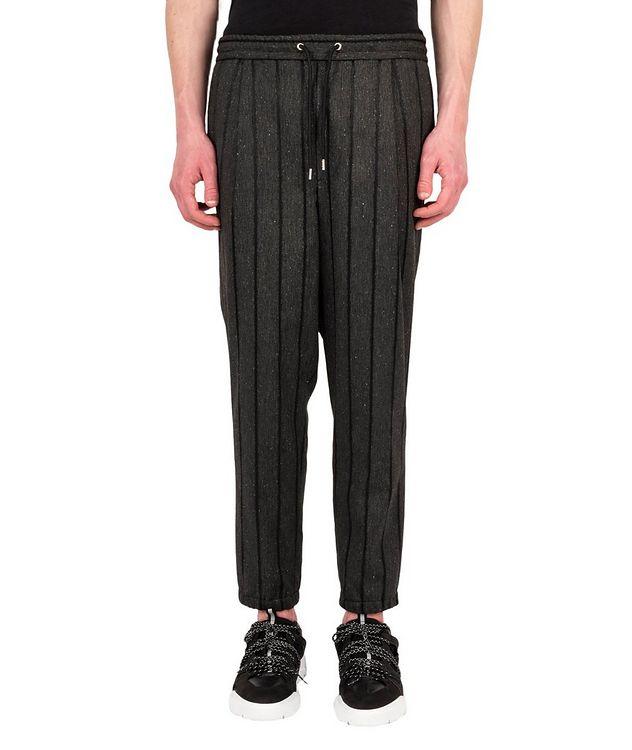 Pantalon à rayures et à taille à cordon picture 1