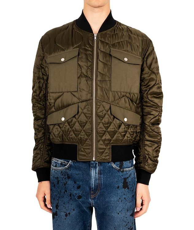 Quilted Bomber Jacket picture 1