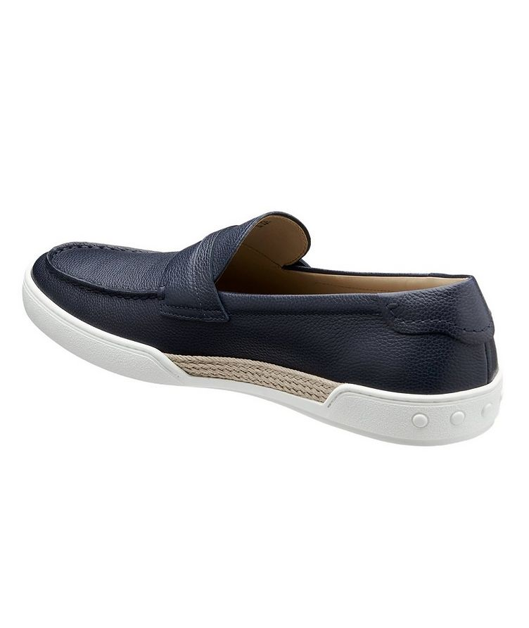 Tumbled Leather Penny Loafers image 1
