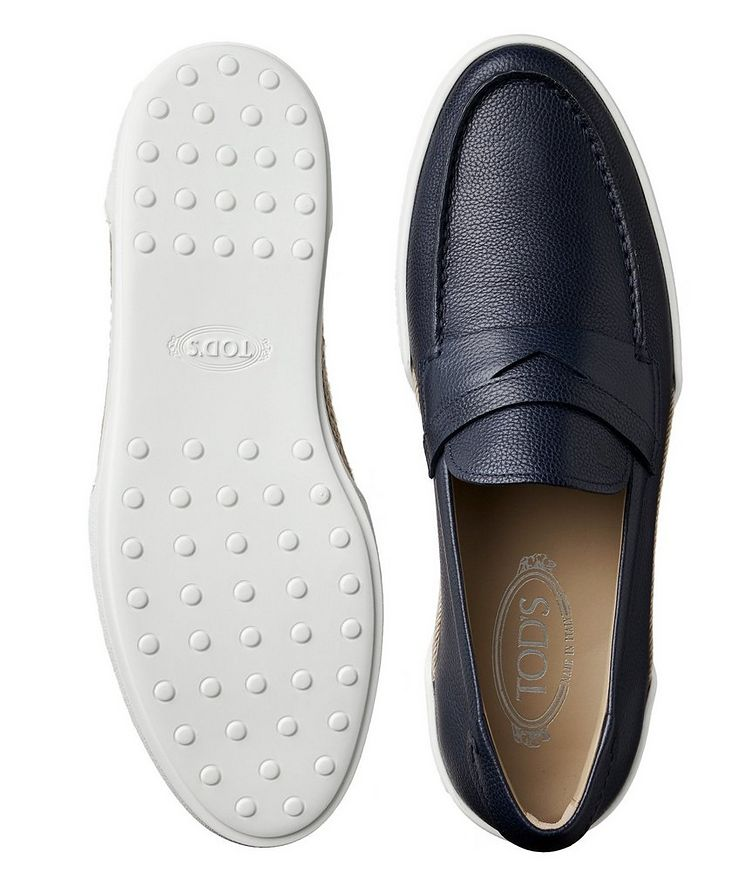 Tumbled Leather Penny Loafers image 2