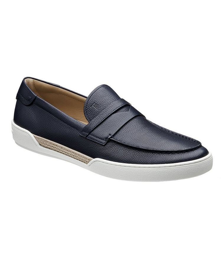 Tumbled Leather Penny Loafers image 0