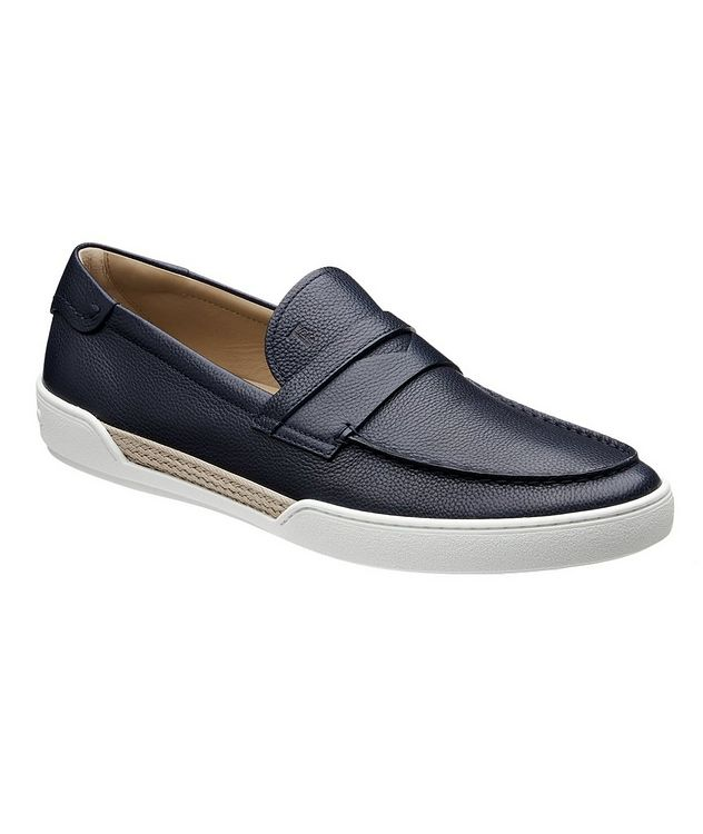 Tumbled Leather Penny Loafers picture 1