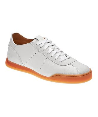 Santoni Leather & Suede Sneakers