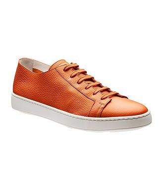 Santoni Deerskin Sneakers