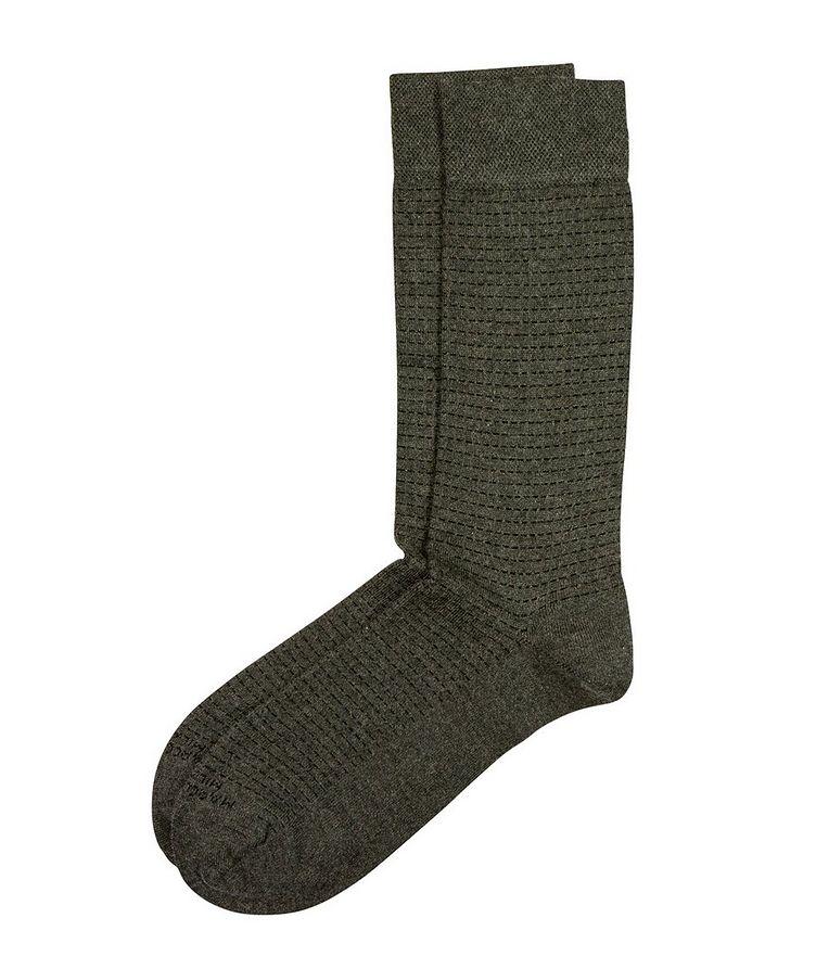 Broken-Stripe Modal-Cashmere Socks image 0
