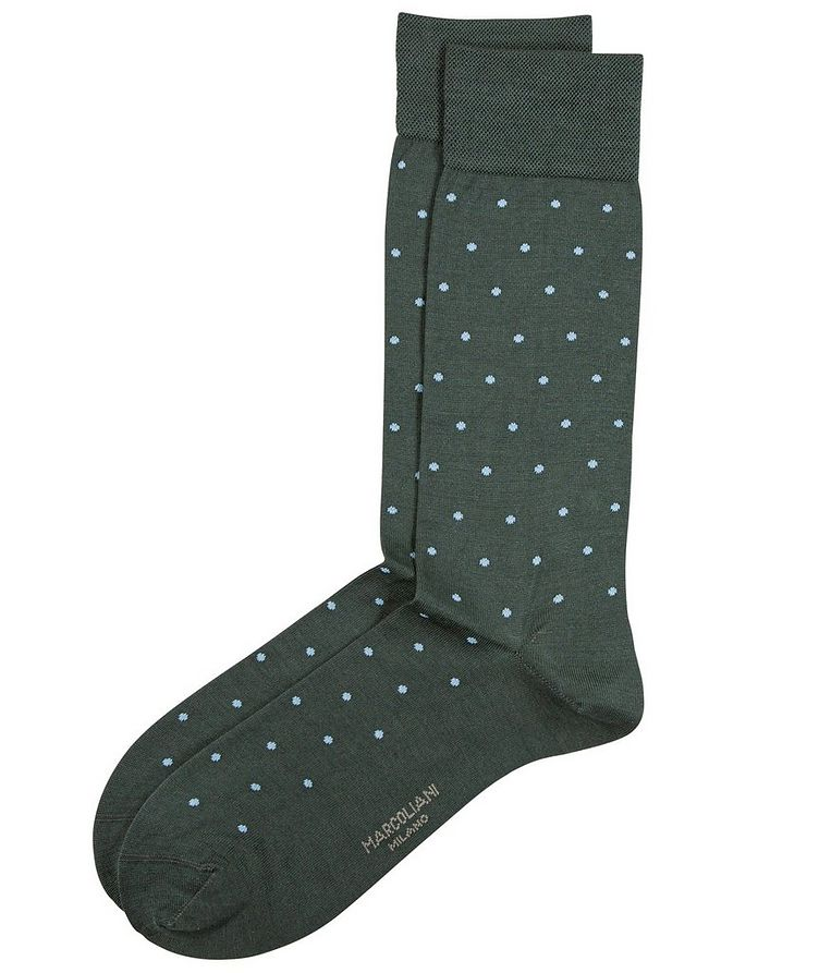 Dotted Cotton-Blend Socks image 0