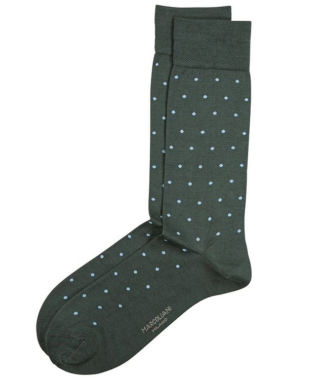 Dotted Cotton-Blend Socks picture 1