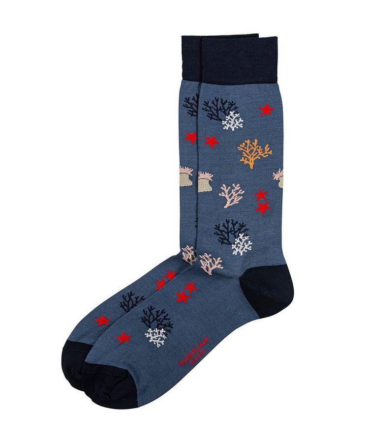 Coral-Printed Socks image 0