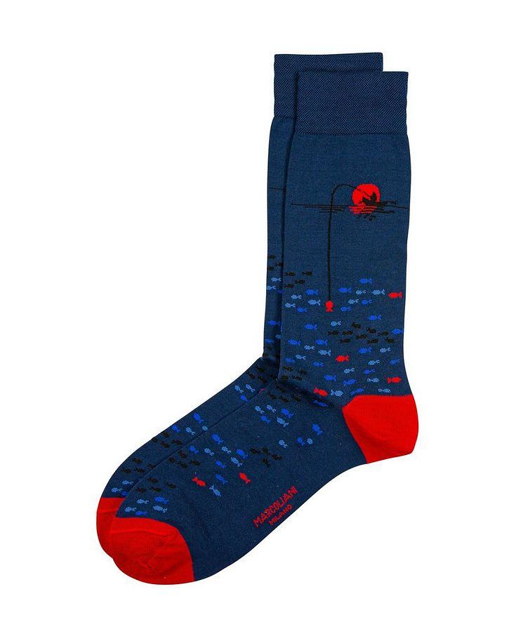 Fish-Printed Socks image 0