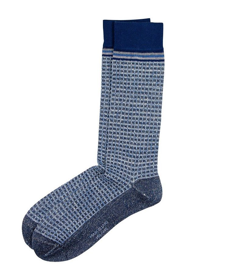 Textured Linen-Cotton Socks image 0