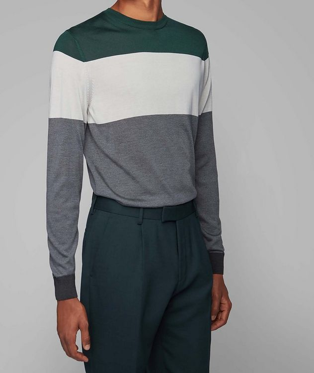 Colour-Blocked Silk Sweater picture 2