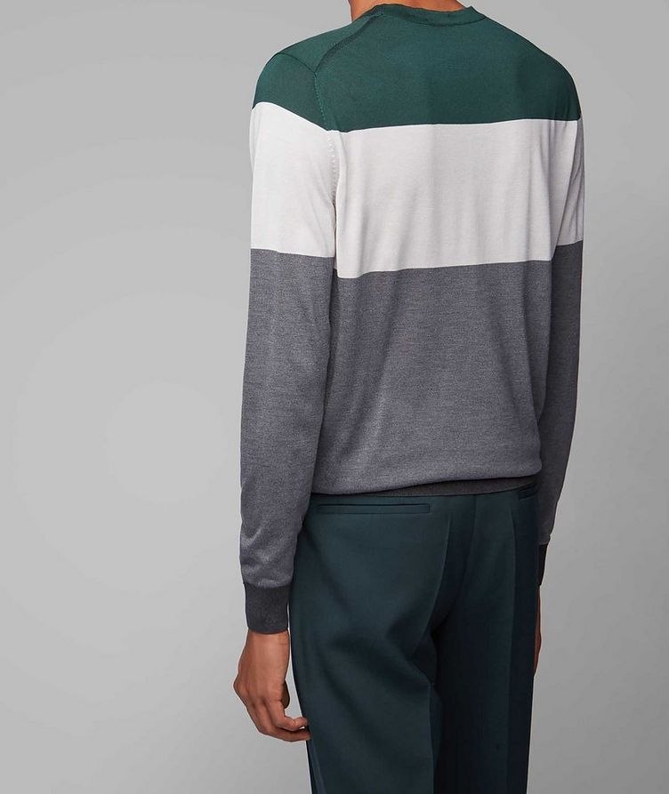 Colour-Blocked Silk Sweater image 2