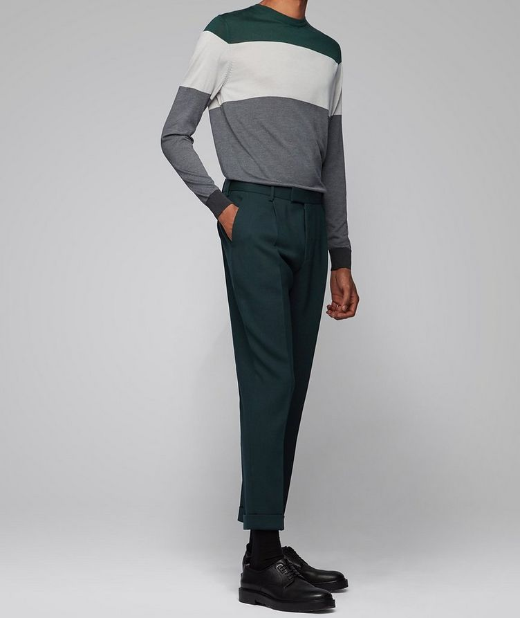 Colour-Blocked Silk Sweater image 3
