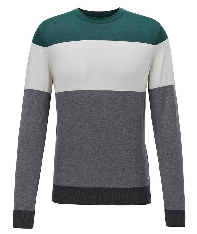 Colour-Blocked Silk Sweater image 0