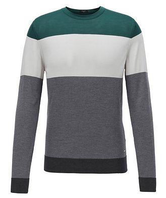BOSS Colour-Blocked Silk Sweater