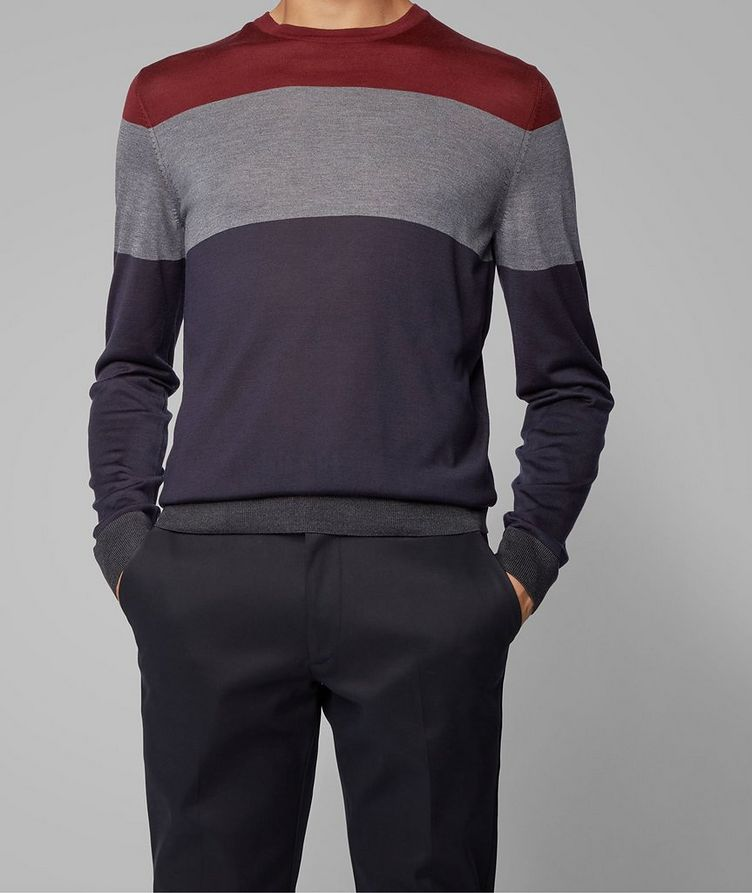 Colour-Blocked Silk Sweater image 1