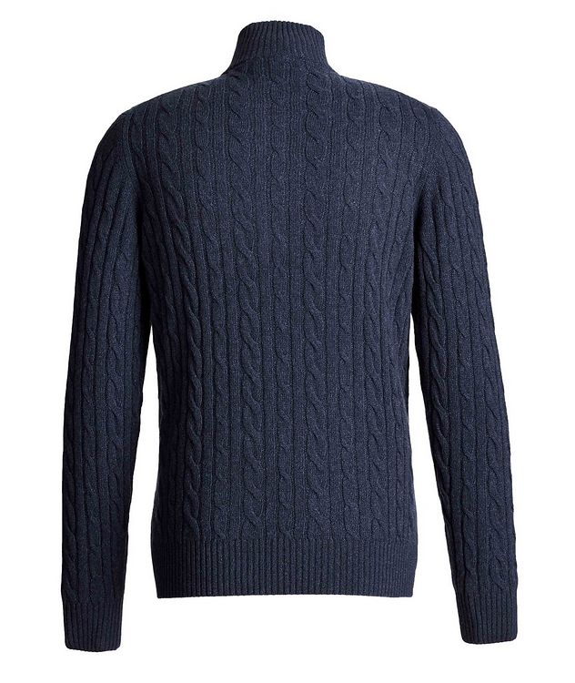 Zip-Up Cashmere Knit Sweater  picture 2