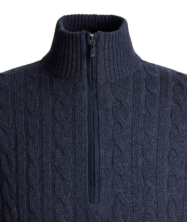 Zip-Up Cashmere Knit Sweater  picture 3