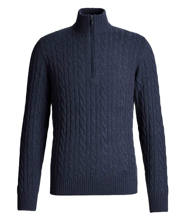 Zip-Up Cashmere Knit Sweater  picture 1