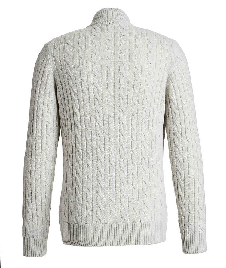 Zip-Up Cashmere Knit Sweater  image 1