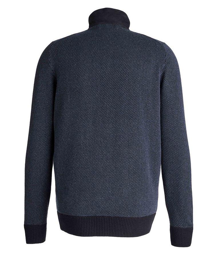 Half-Zip Cashmere-Suede Sweater image 1