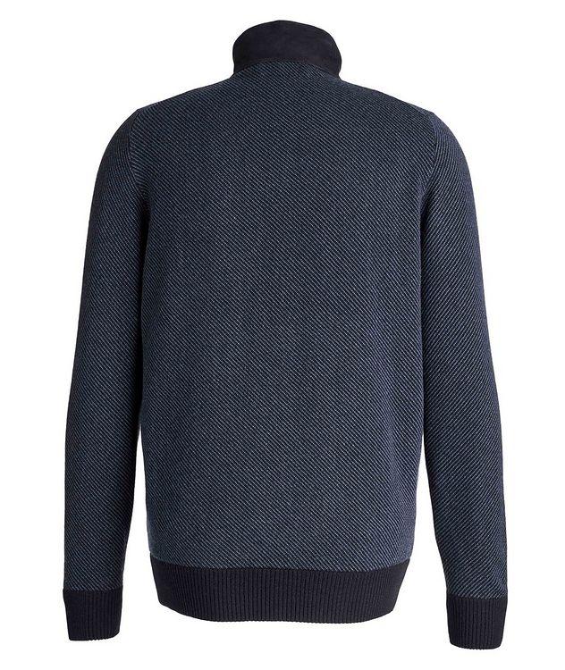 Half-Zip Cashmere-Suede Sweater picture 2