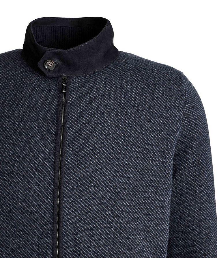 Half-Zip Cashmere-Suede Sweater image 2