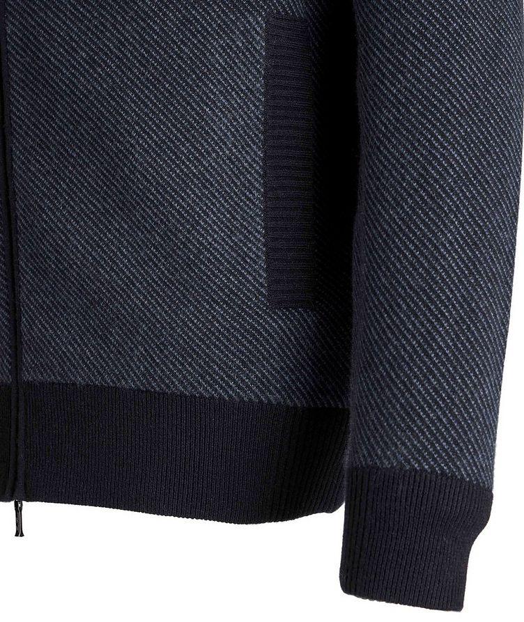 Half-Zip Cashmere-Suede Sweater image 3