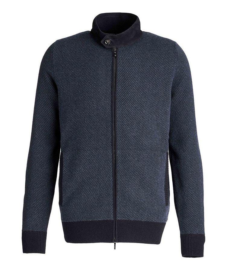 Half-Zip Cashmere-Suede Sweater image 0