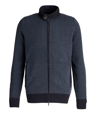 Loro Piana Half-Zip Cashmere-Suede Sweater